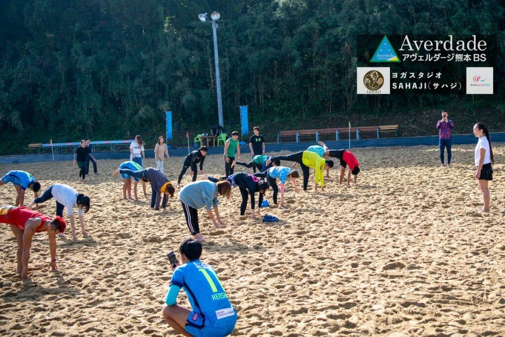 出張写真撮影 ビーチサッカーとヨガ 合同イベントin熊本