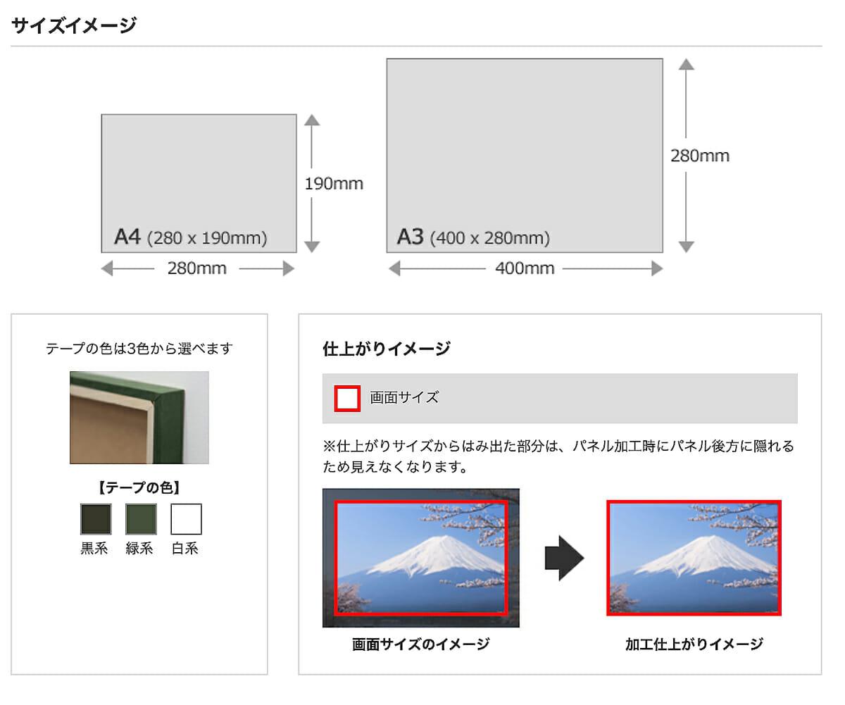 ウッドパネル サイズイメージ 通常納期2週間