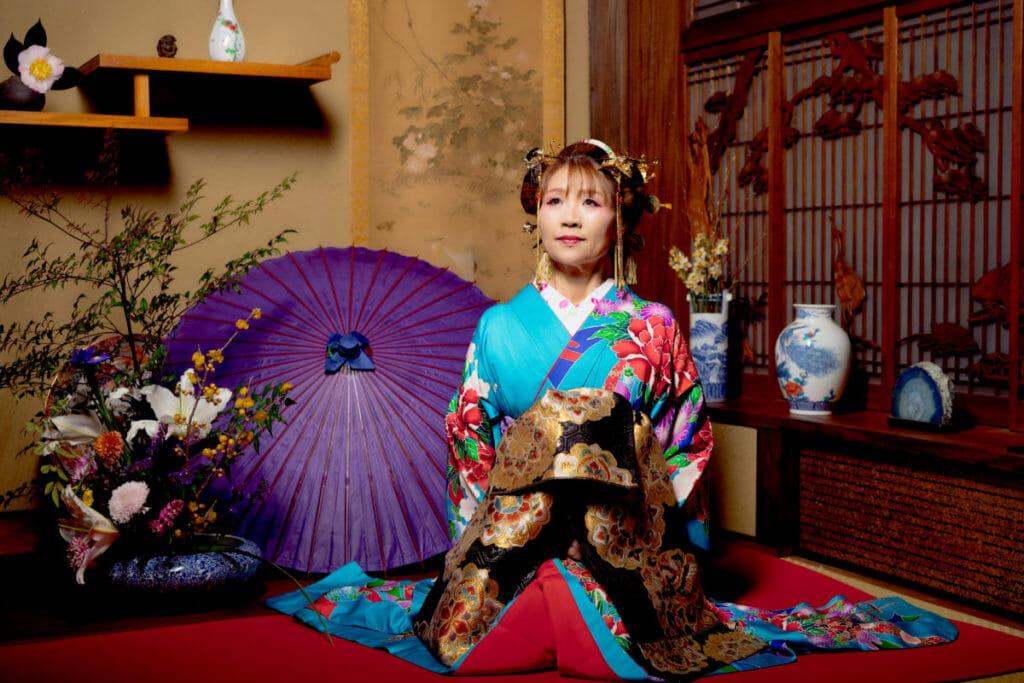 ホームページ素材 写真撮影  出張写真撮影 花魁衣装 ハニーローラァ(新村直子)