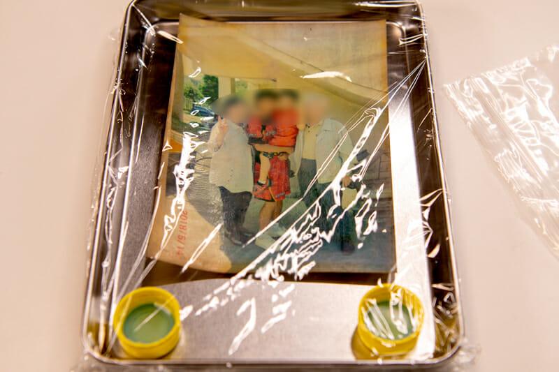 (株)アンドクレア被災写真の受付 水に濡れた写真を洗浄してデジタル化 令和2年7月豪雨 ボランティア活動