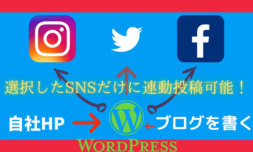 ブログを書くだけで FB・Twitter・Instagramへ自動投稿!