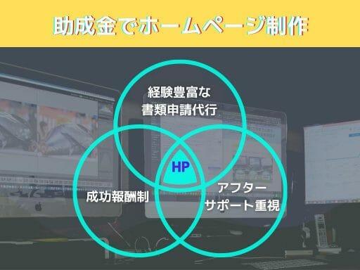 熊本県内のみ対応 助成金申請代行からHP制作